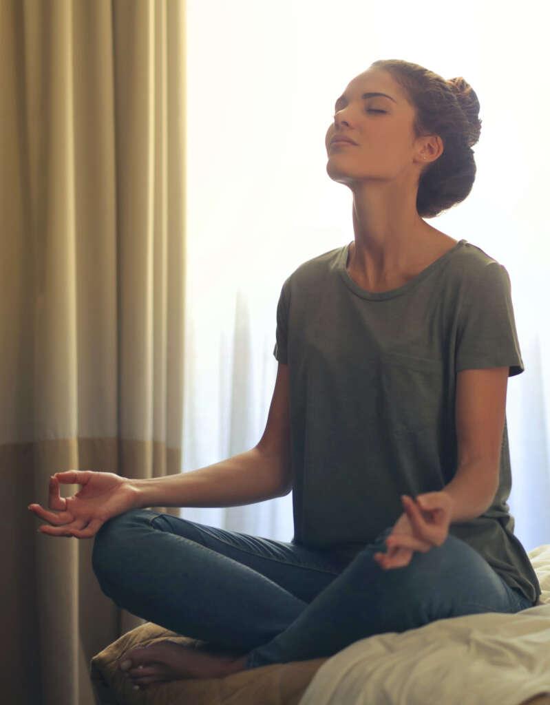 Meditation Frau